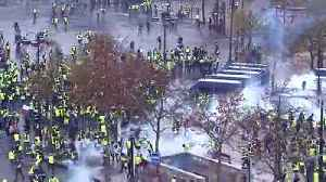 News video: Police fire tear gas at Paris protesters