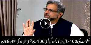 PTI govt's 100-year performance will be similar to its 100-day performance: Shahid Khaqan Abbasi [Video]