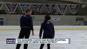 Ice dancers Evan Bates and Madison Chock starting another Olympic push in Detroit [Video]