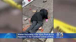 Woman Hospitalized After Stumbling Over Bricks That Fell From Building In Frankford [Video]