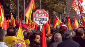 Nationalists in Madrid demonstrate against Catalan independence movement [Video]