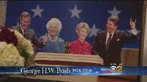 Ronald Reagan Presidential Library Visitors Remember George H.W. Bush [Video]