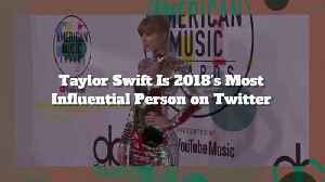 Taylor Swift Is 2018 Most Influential Person On Twitter [Video]