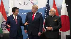 Trump Meets With Prime Minister Of Japan And Of India [Video]