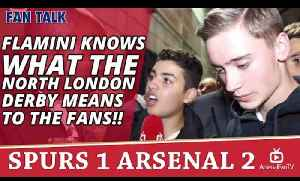 Flamini Knows What The North London Derby Means To The Fans!!    Spurs 1 Arsenal 2 [Video]