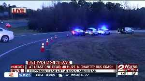 At least one dead; 40 hurt in charter bus crash [Video]