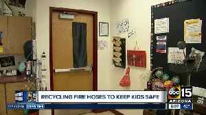 Fire departments donating fire hoses to keep school students safe [Video]