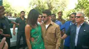 Priyanka Chopra, Nick Jonas make first appearance as married couple [Video]