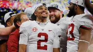 Jalen Hurts Provided Feel-Good Story in SEC Title Game, but Will We See Him in CFP? [Video]