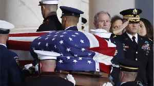 Former President Bush's Body Arrives In Washington [Video]