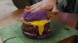 Would You Eat This Purple Burger? [Video]