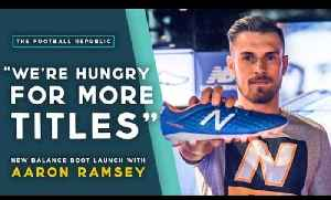 'We're hungry to win more titles' | Aaron Ramsey Q+A @ New Balance Boot Launch [Video]