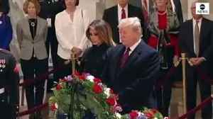 Trump Visits Capitol Rotunda To Pay Respects To George H. W. Bush [Video]