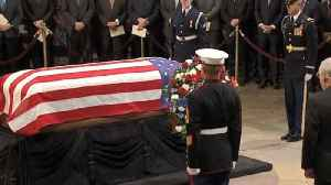 Former President George H.W. Bush lies in state at U.S. Capitol [Video]