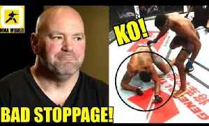 Dana White not impressed with Francis Ngannou vs Curtis Blaydes Knockout stoppage,Overeem on Lewis [Video]