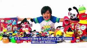 A 7-Year-Old Boy is YouTube's Top Earner With $22 Million [Video]