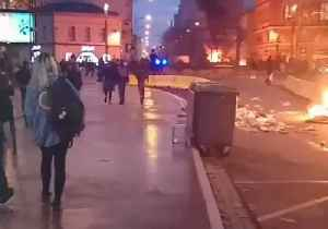 Fire Burns in Aftermath of Student Protests in Toulouse [Video]