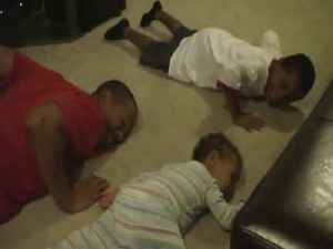 Baby Wants to be Just like his Older Brothers [Video]