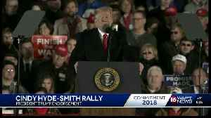 Trump campaigns for Hyde-Smith [Video]