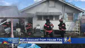 Man Rescued From Basement Of Burning Home [Video]