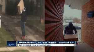 News video: Greenfield Police link package thief caught on camera to other crimes
