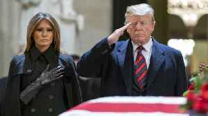 Donald Trump Pays Respect To George H.W. Bush At US Capitol [Video]