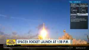 SpaceX launching rocket today at 1:38 p.m. [Video]