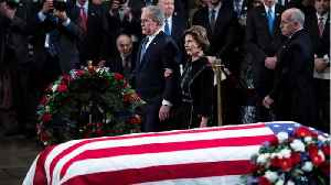 Many Pay Final Respects To President Bush [Video]