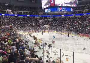 Hershey Bears Hockey Team Breaks World Record With Epic Teddy Bear Toss [Video]