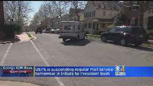USPS Suspending Regular Mail Service Wednesday As Tribute To President Bush [Video]