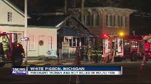 Pregnant woman & boy killed in house fire [Video]