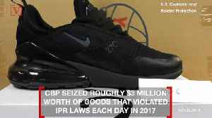 9,000 Pairs of Counterfeit Nike Sneakers Seized at the Port of New York/Newark [Video]