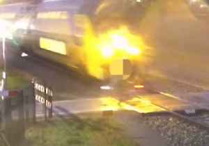 Cyclist Almost Hit by Train in 2nd Video Released by Dutch Rail Agency [Video]