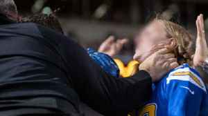 Steelers Fan Caught Choking A Female Chargers Fan During Game