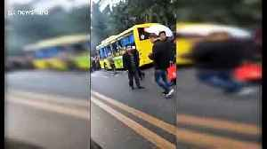 Chinese man ignites explosive on bus injuring 17 [Video]