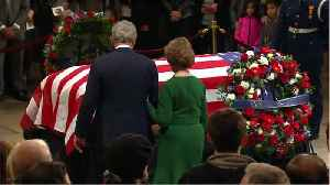 George H.W. Bush Honored By Past Presidents And Family At State Funeral [Video]