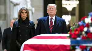 Obama and Trump Have Civil Reunion at George HW Bush's funeral [Video]