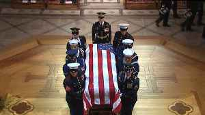 News video: George H.W. Bush's casket enters National Cathedral for funeral service