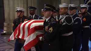 Former President George H.W. Bush honored at state funeral [Video]