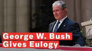 George W. Bush Delivers Emotional Eulogy At His Father's Funeral: 'We're Gonna Miss You' [Video]