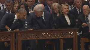 Lip Reader Reveals What Top Leaders Said During President Bush's Funeral [Video]