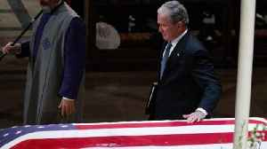 News video: George W. Bush makes history with emotional eulogy
