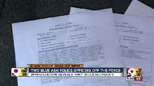 Two Blue Ash police officers fired [Video]