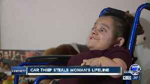Brazen thief steals family's SUV and wheelchair from woman with brittle bone disease [Video]