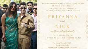 Priyanka Chopra & Nick Jonas Reception: First look of Delhi Reception Invitation Card | FilmiBeat [Video]