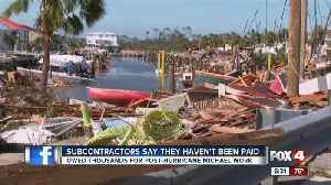 Subcontractors say they haven't been paid for hurricane clean-up [Video]