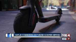 City leaders consider scooter rental service in Naples [Video]