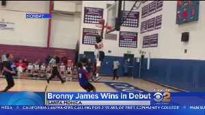LeBron James Watches Son Make Basketball Debut In Santa Monica [Video]