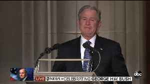News video: Former President George W. Bush speaks at his father's funeral
