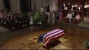 Dignified exit for George H W Bush at a funeral where politics took second place [Video]
